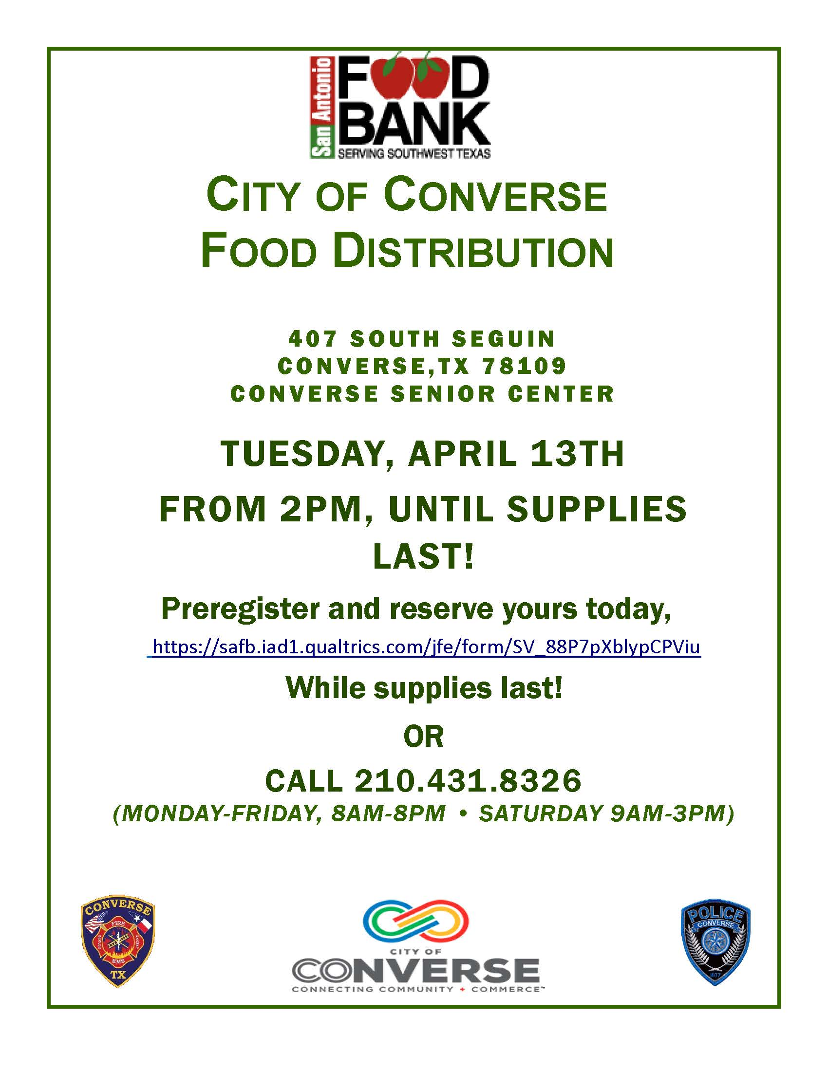 Food Bank Distribution Flyer